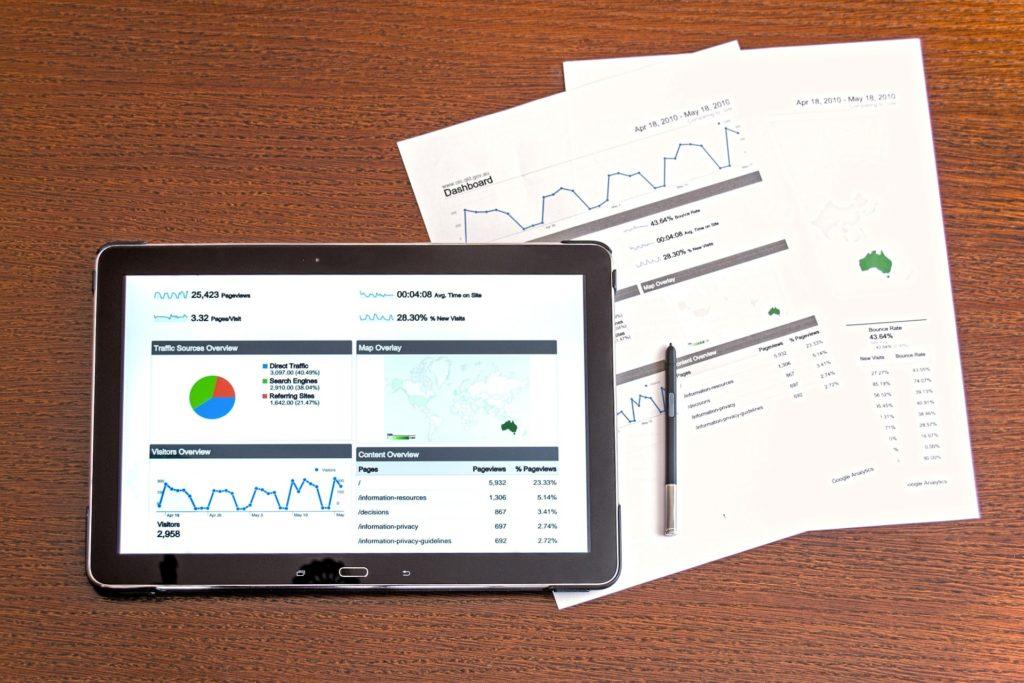 Vista de datos de Google Analytics