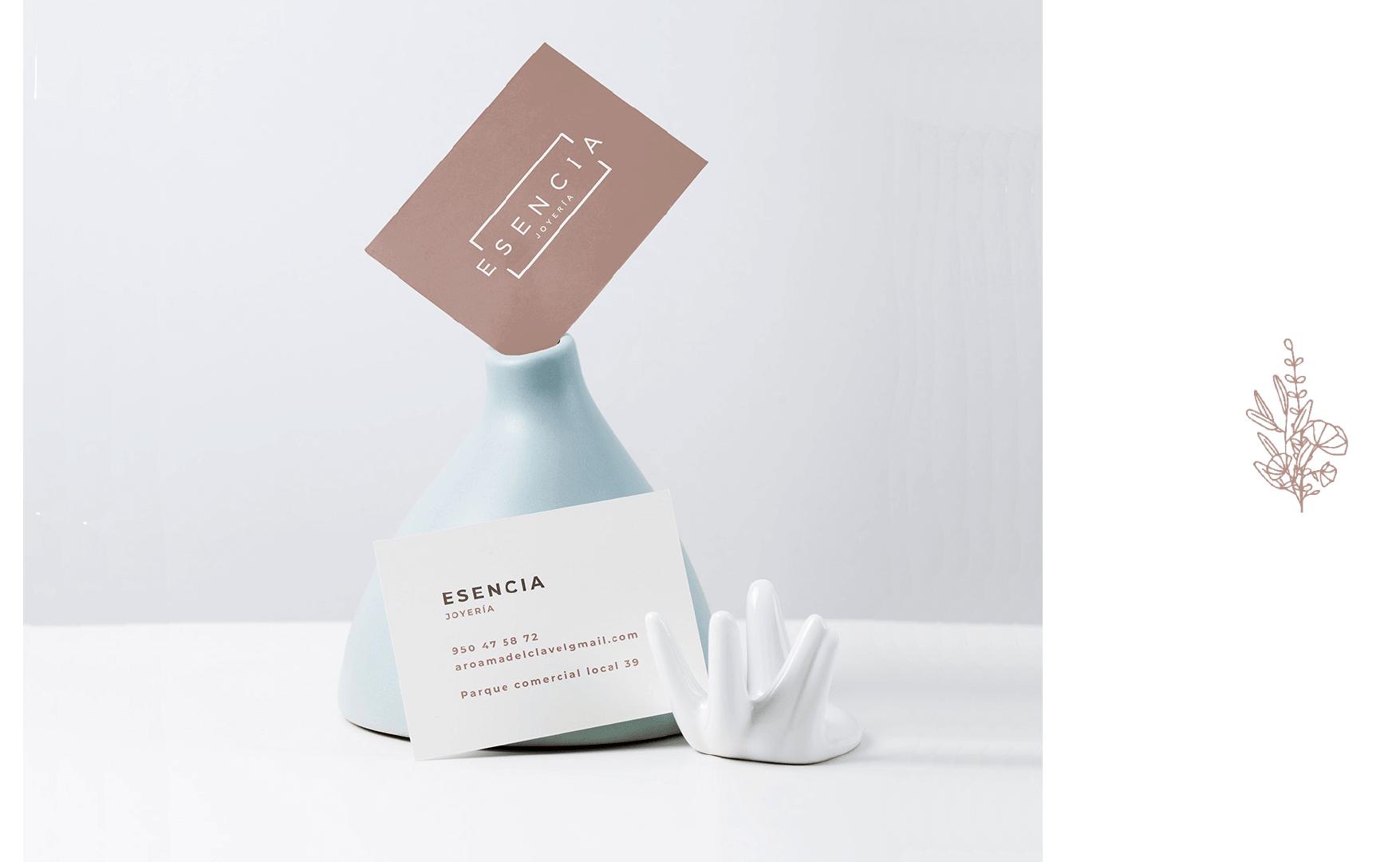 Joyería Esencia tarjeta de visita