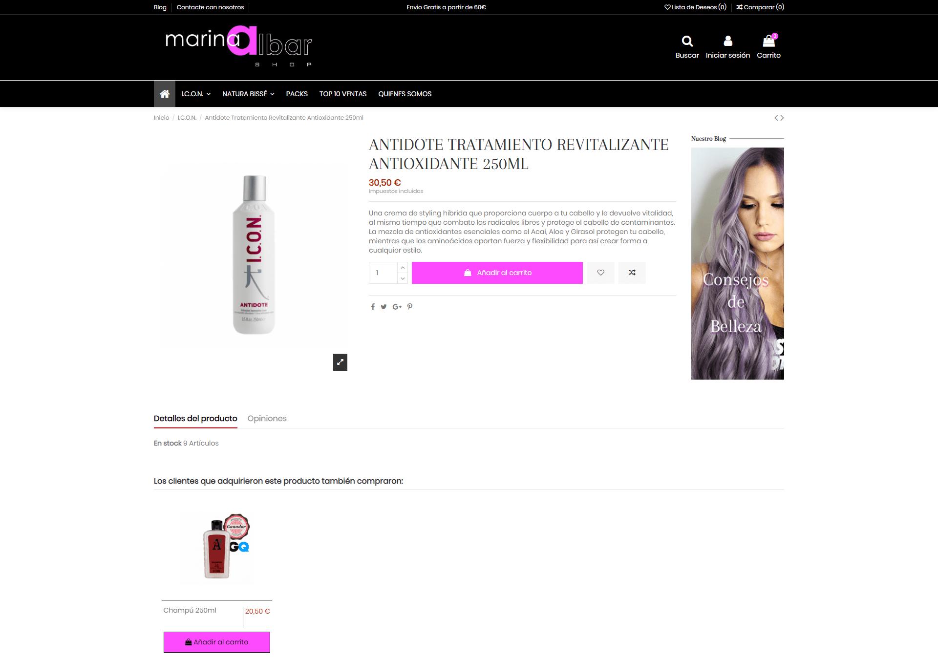 Marina Albar Shop - Producto
