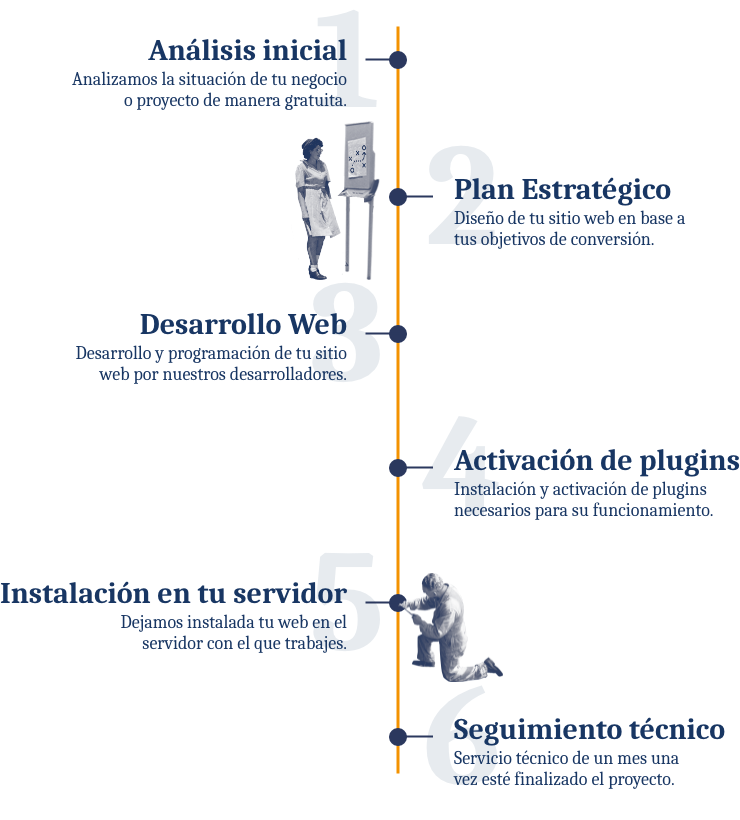 Infografía proceso del SEO