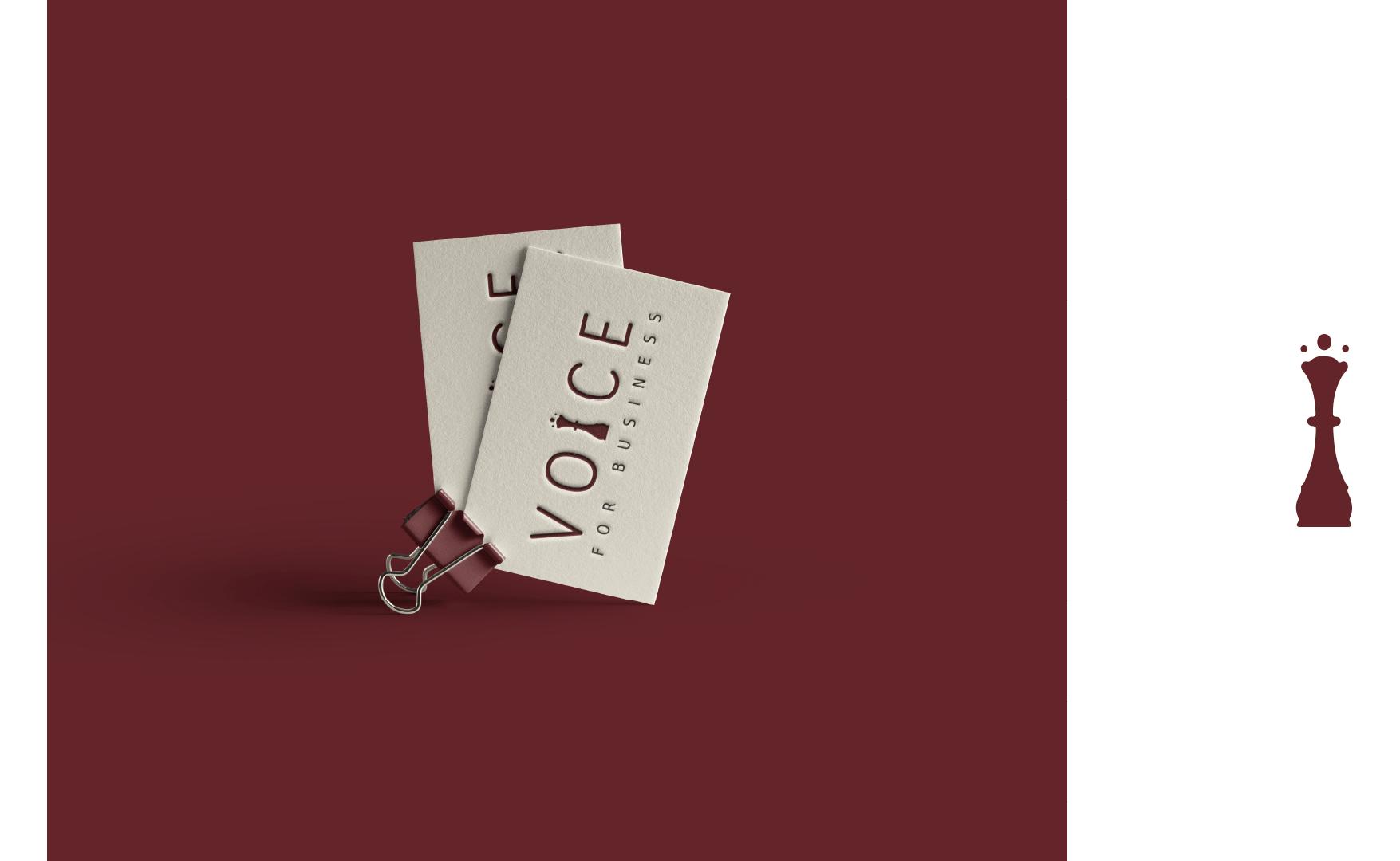 Voice For Business tarjeta de visita