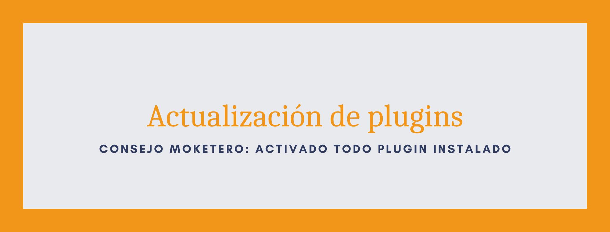 Actualización de plugins para el servicio de mantenimiento web de wordpress