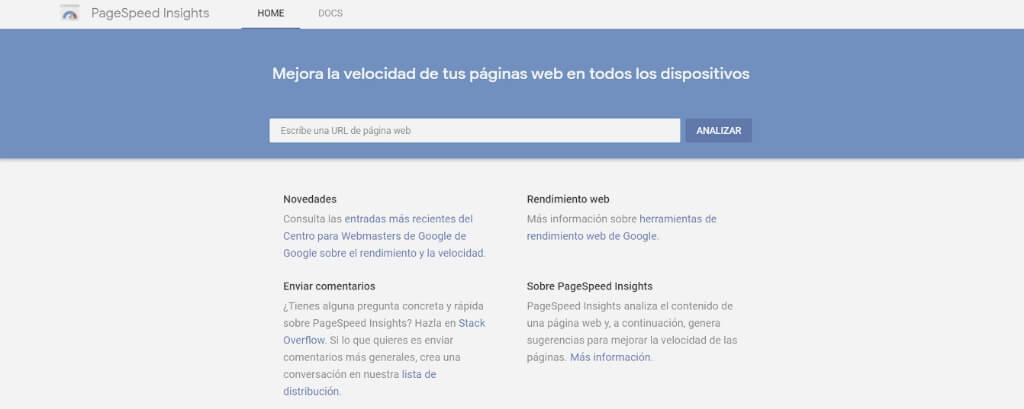 Google PageSpeed herramienta SEO Gratuita