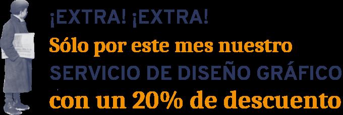 Promoción 20% de descuento en Diseño Gráfico