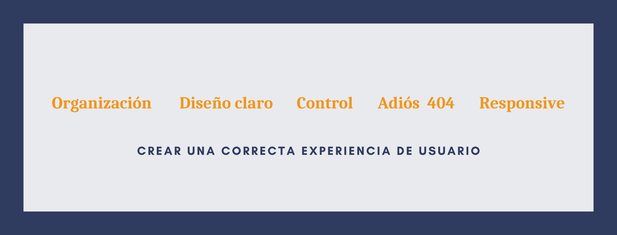 Infografía para crear una correcta experiencia de usuario.