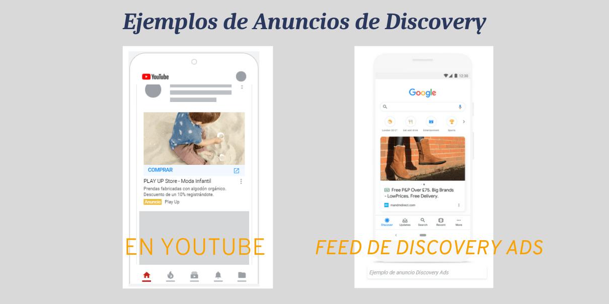 ejemplo de anuncios en campañas de discovery Ads