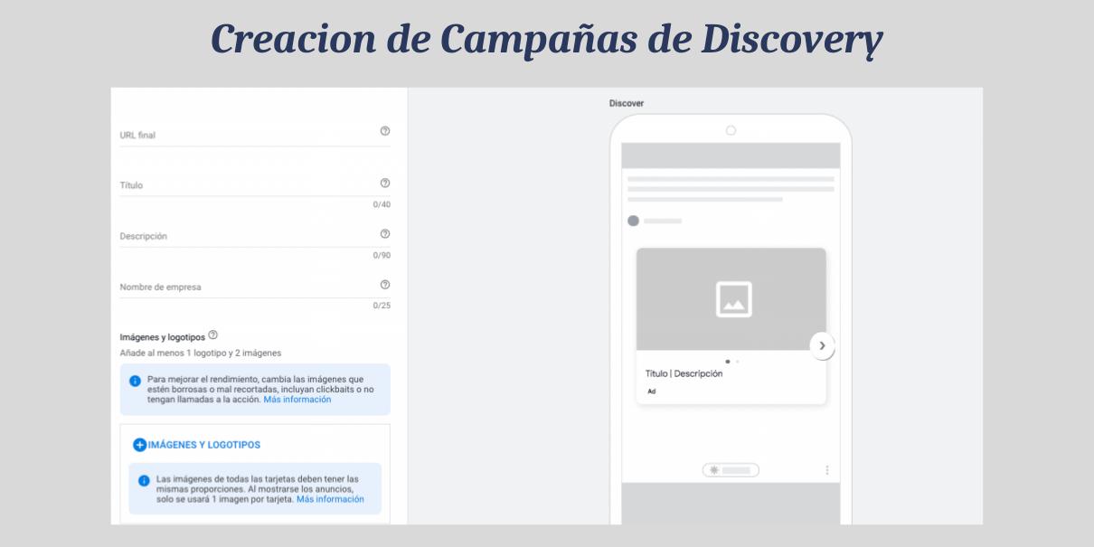 creación de anuncios en campañas de discovery ads