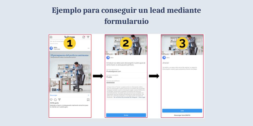 ejemplo leads en marketing